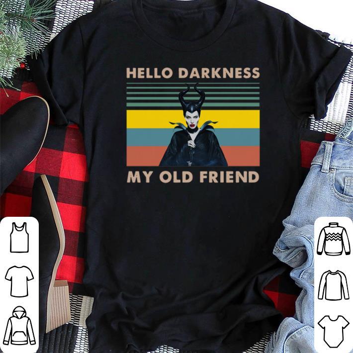 Vintage Maleficent hello darkness my old friend shirt