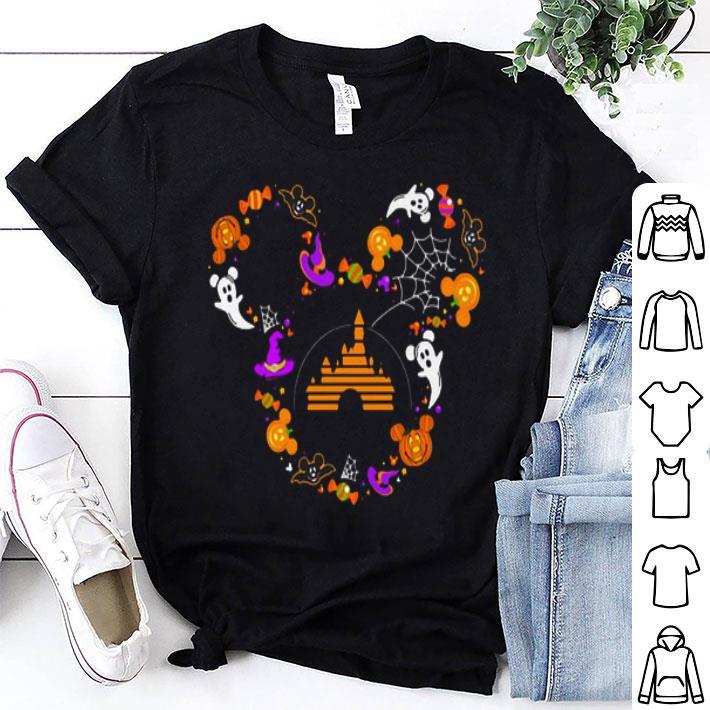 Walt Disney Mickey mouse head Halloween shirt