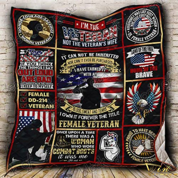 Women veteran it can not be inherited nor can it ever quilt blanket