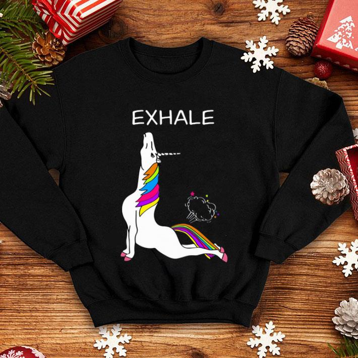 Yoga Unicorn exhale shirt