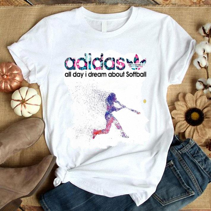 adidas all day i dream about softball shirt