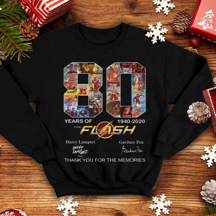 80 years of The Flash 1940-2020 thank you for the memories shirt