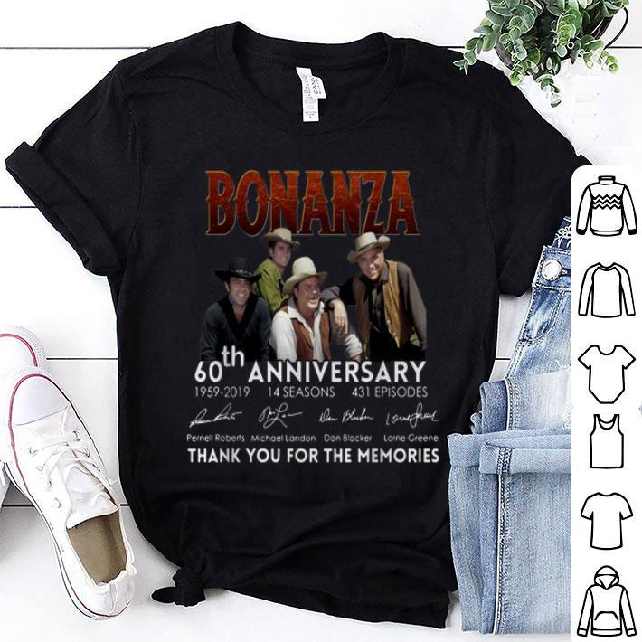 Bonanza 60th anniversary 1959-2019 thank you for the memories shirt