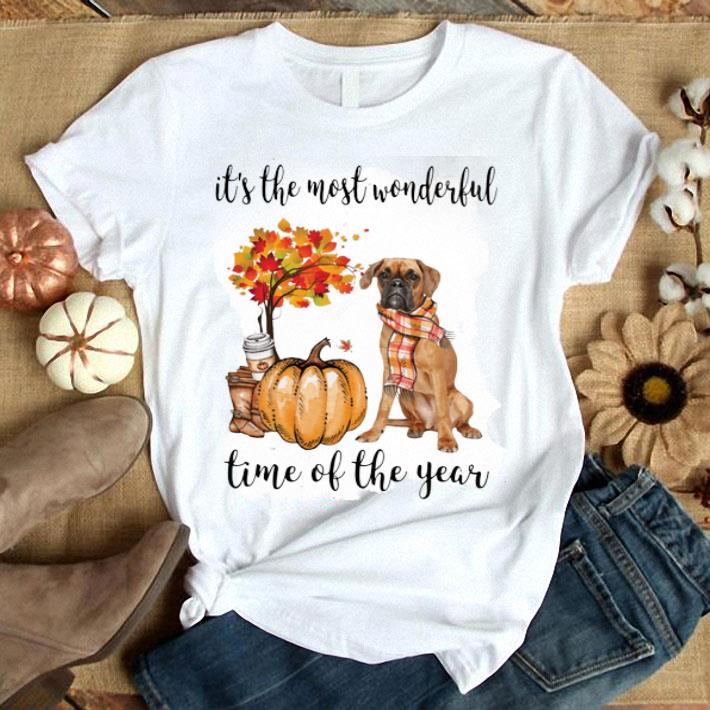 Boxer it's the most wonderful time of the year Autumn shirt
