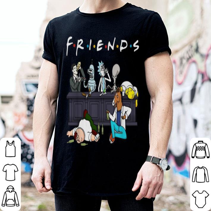 Cartoon Characters Netflix Friends Tv Series shirt