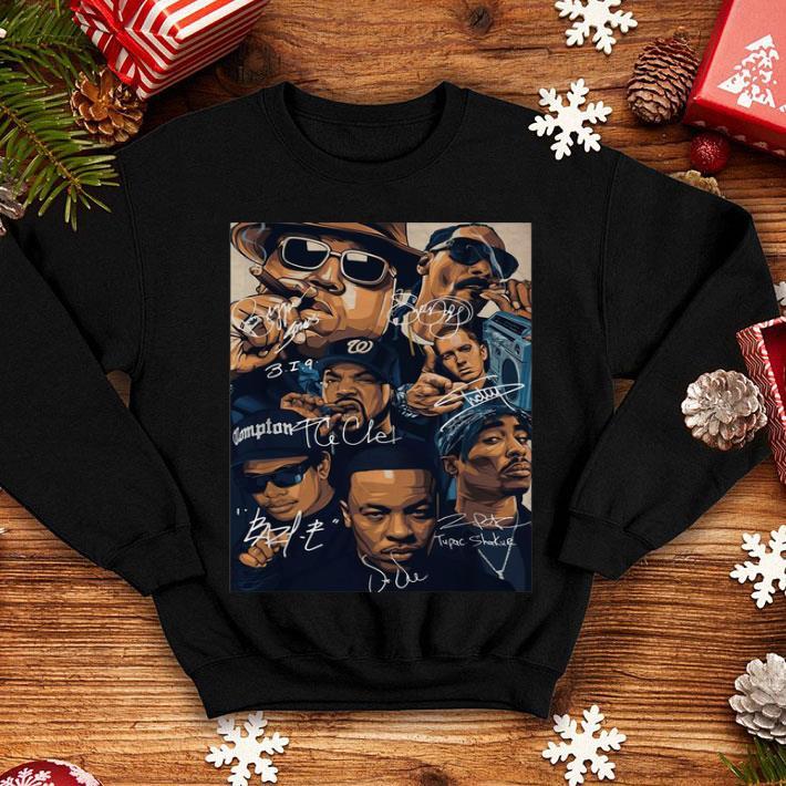 Compton team rapper signatures shirt