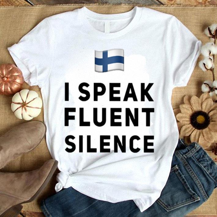 Filand flag i speak fluent silence shirt