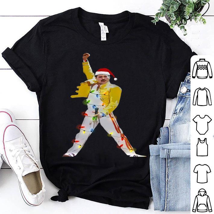 Freddie Mercury Christmas lights shirt