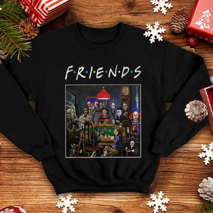 Friends Horror movie characters playing card shirt