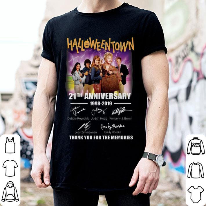 Halloweentown 21th anniversary 1998-2019 signatures shirt
