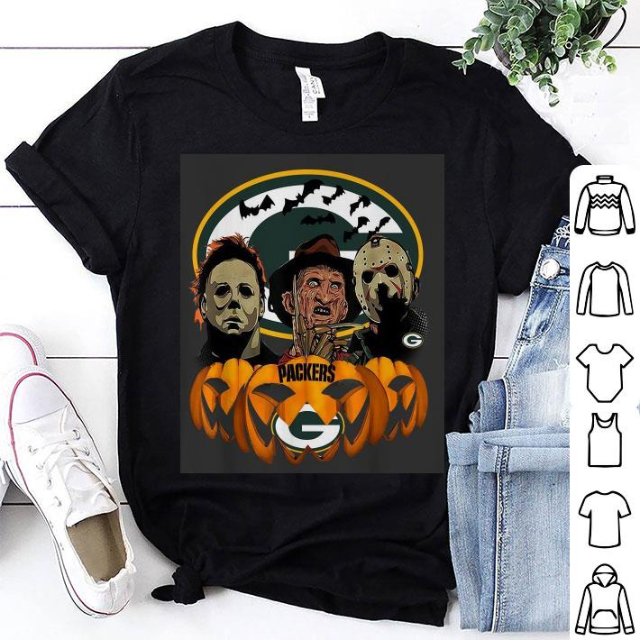 Horror movie characters Green Bay Packers pumpkin shirt