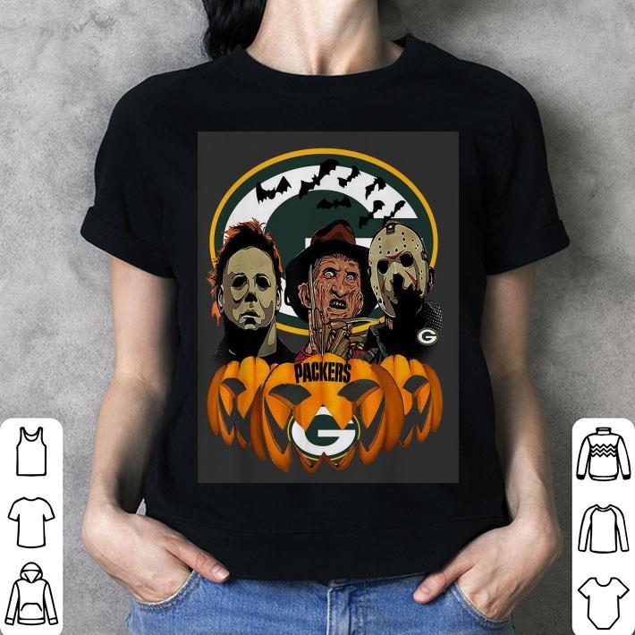 Horror movie characters Green Bay Packers pumpkin shirt