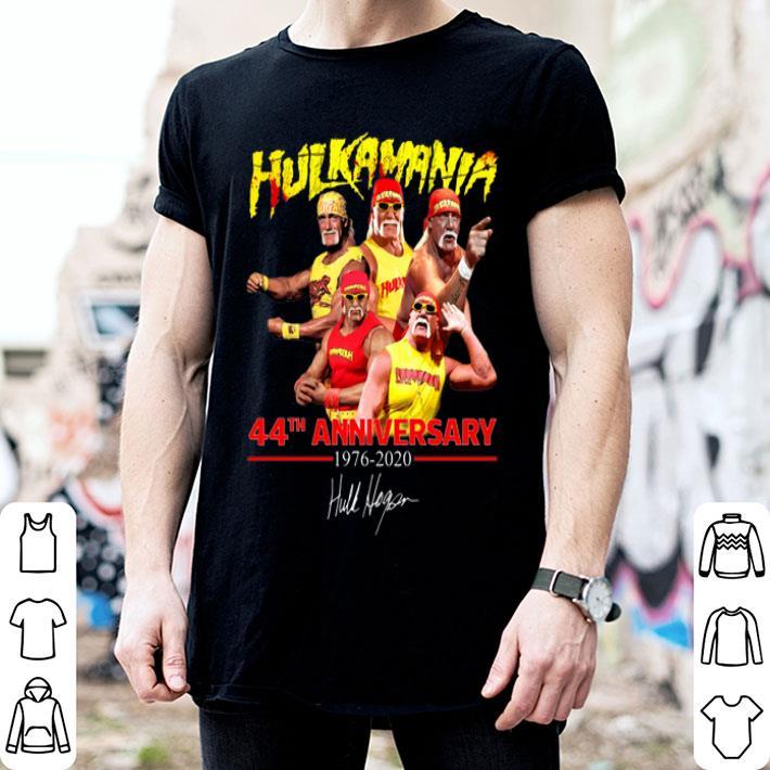 Hulk Hogan Hulkamania 44th Anniversary 1976-2020 Signature shirt