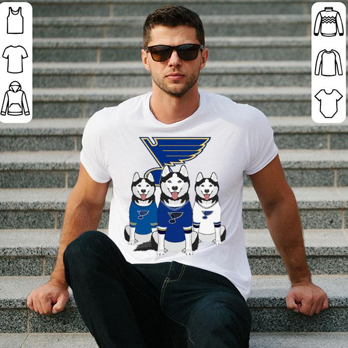 Husky dogs St. Louis Blues shirt