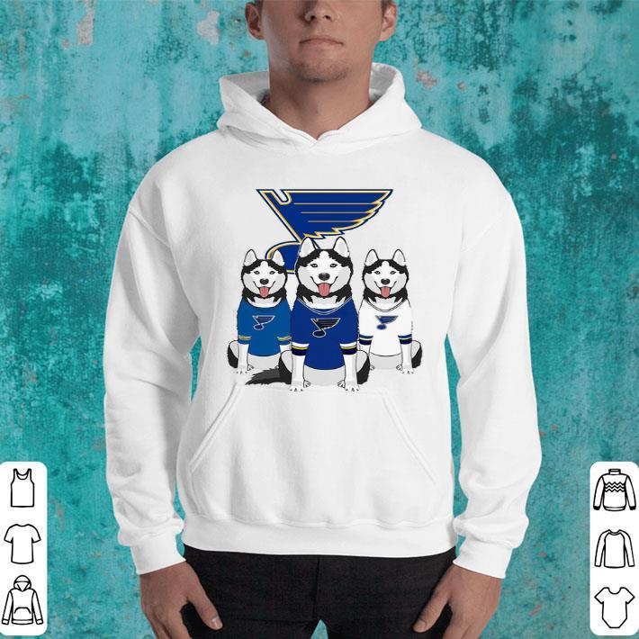 Husky dogs St. Louis Blues shirt