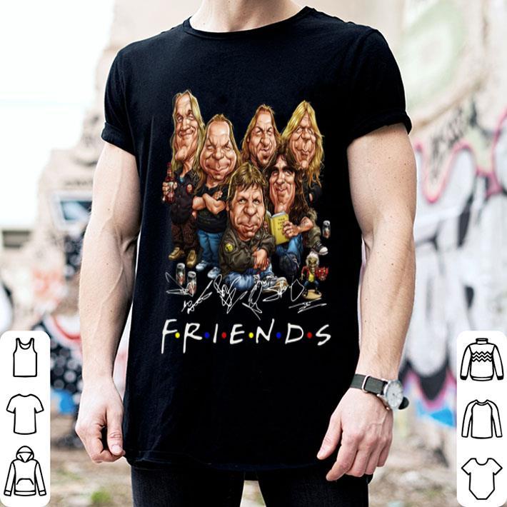 Iron Maiden cartoon friends signatures shirt