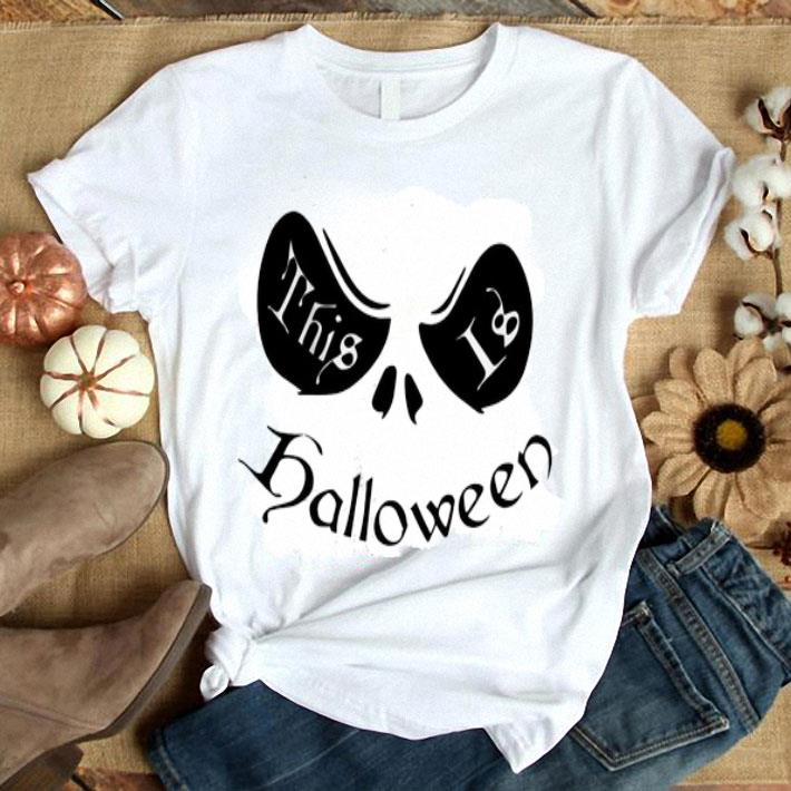 Jack Skellington face this is halloween shirt