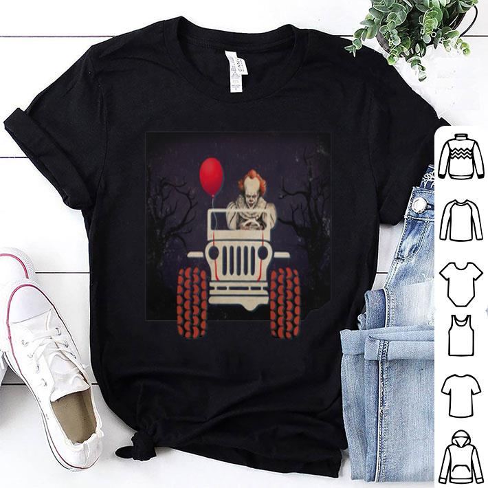 Jeep and Pennywise IT Halloween shirt