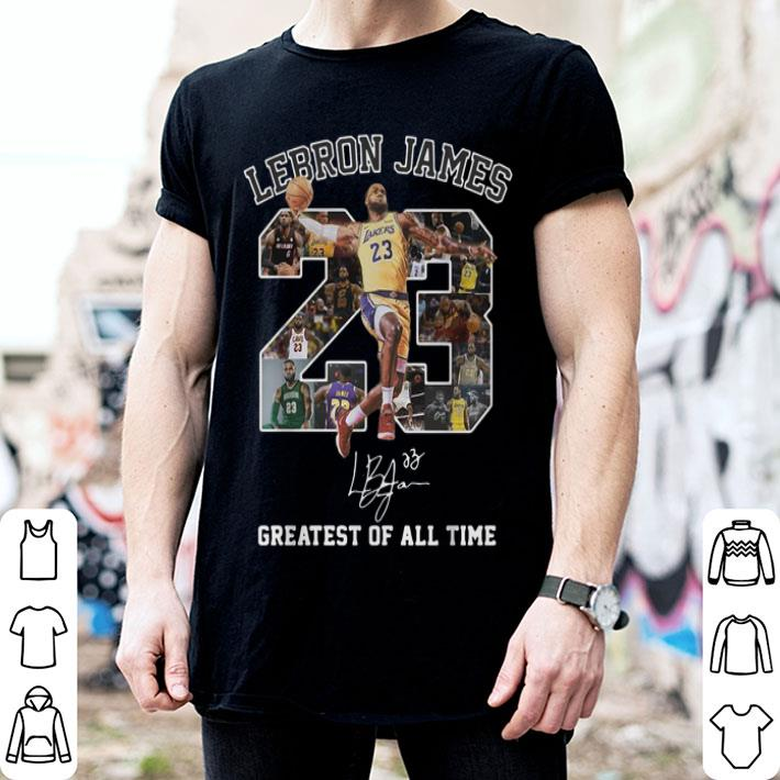 Lebron James greatest of all time signature shirt