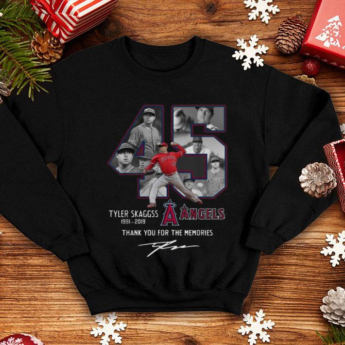 Los Angeles Angels 45 Tyler Skaggs Thank You For The Memories shirt