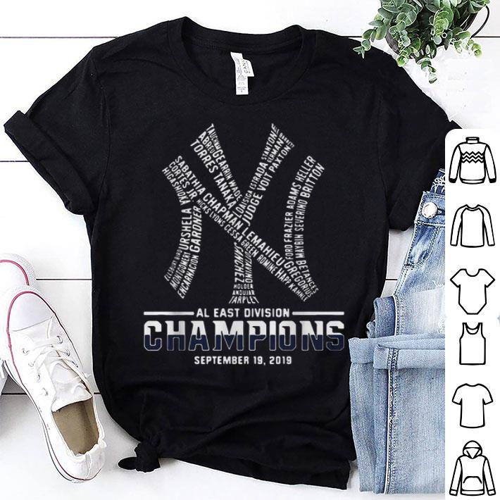 New York Yankees AL East division champions September 19 2019 shirt