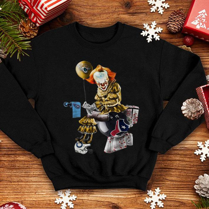 Pennywise Jaguars Tennessee Titans Houston Texans Toilet shirt