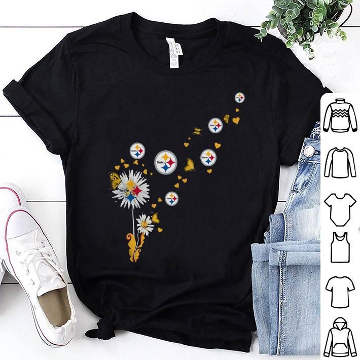 Pittsburgh Steelers logo dandelion butterfly shirt