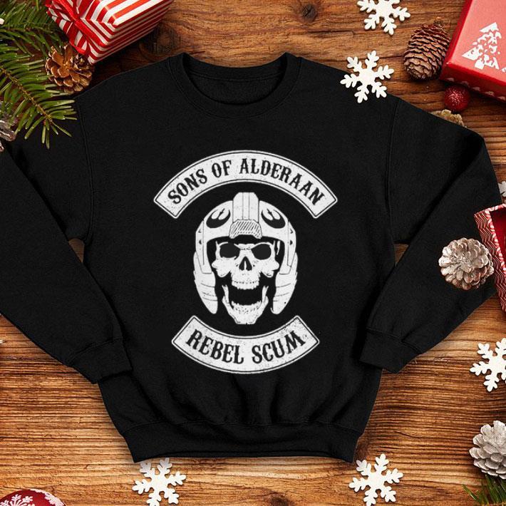 Skull Sons Of Alderaan Rebel Scum shirt
