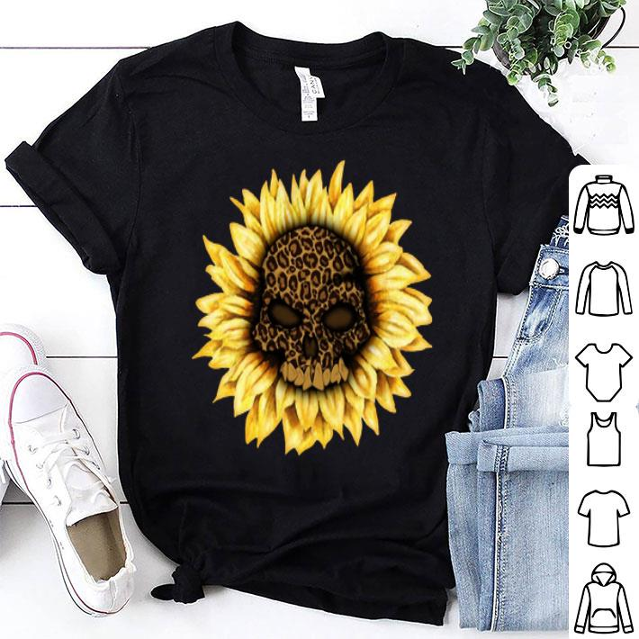 Skull Sunflower Leopard shirt
