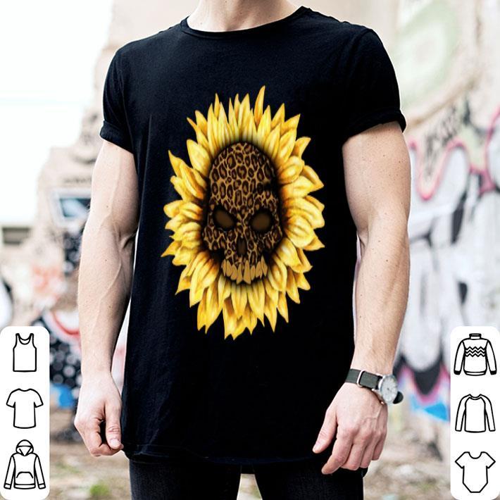Skull Sunflower Leopard shirt