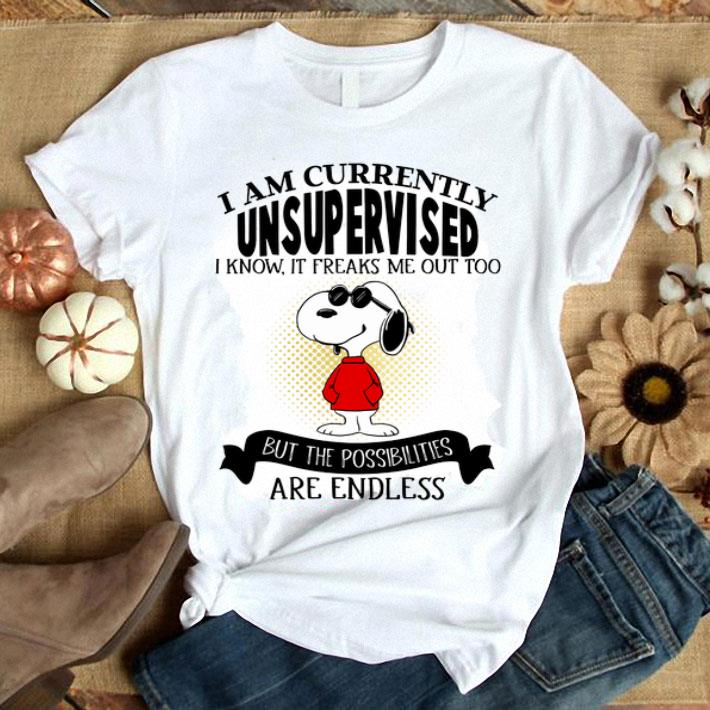 Snoopy i am currently unsupervised i know it freaks me out too shirt