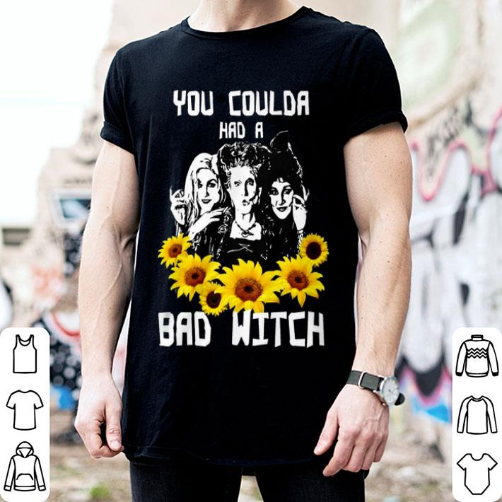 Sunflower You Coulda Had A Bad Witch Hocus Pocus Halloween shirt