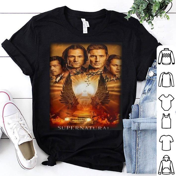 Supernatural The Winchesters Final Season Characters Signatures shirt