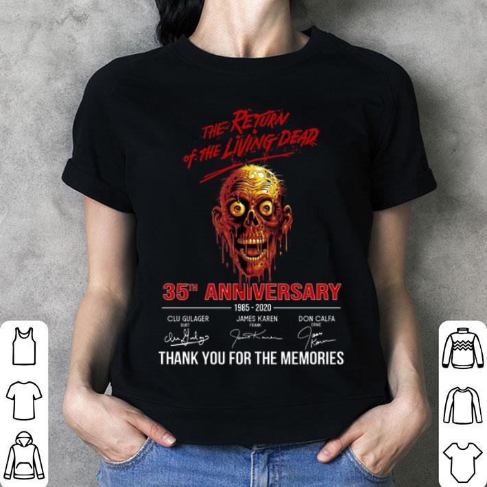 The return of the living dead 35th anniversary 1985-2020 shirt