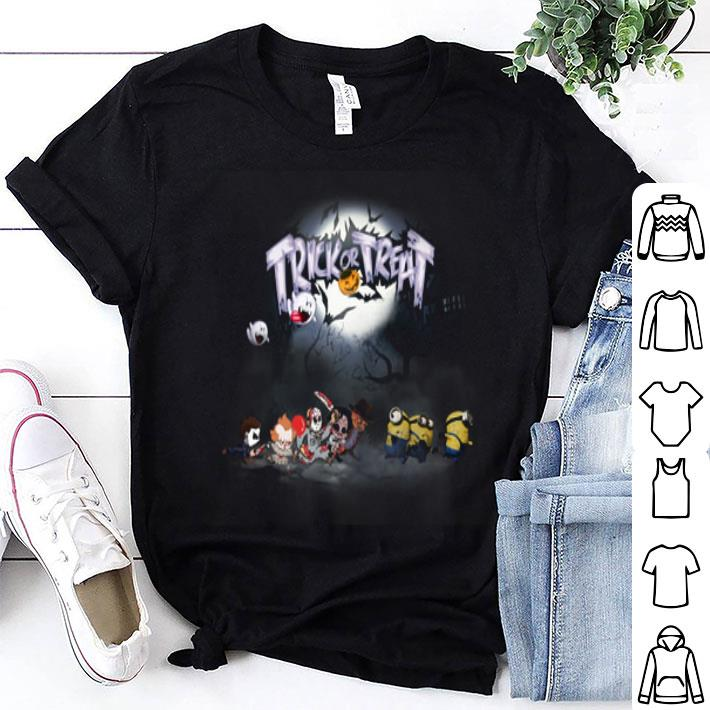 Trick or treat Horror movie characters minions shirt