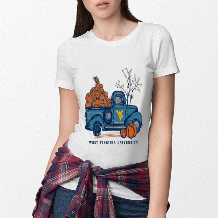 West Virginia Mountaineers WVU Harvest Pumpkin Truck shirt