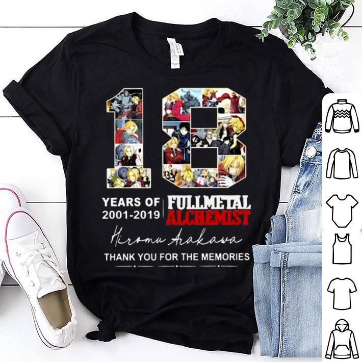18 Years of Fullmetal Alchemist 2001-2019 Hiromu Arakawa shirt