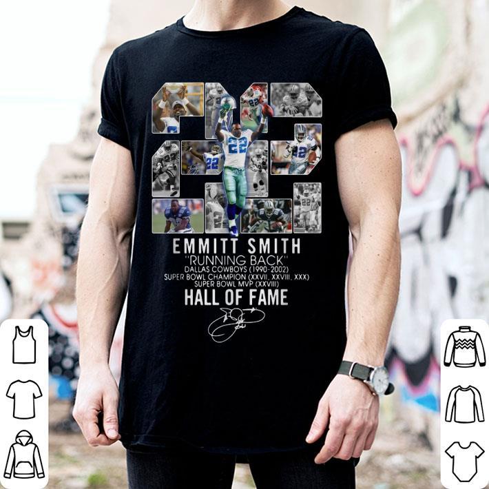 22 Emmitt Smith Running Back Dallas Cowboys Hall Of Fame shirt