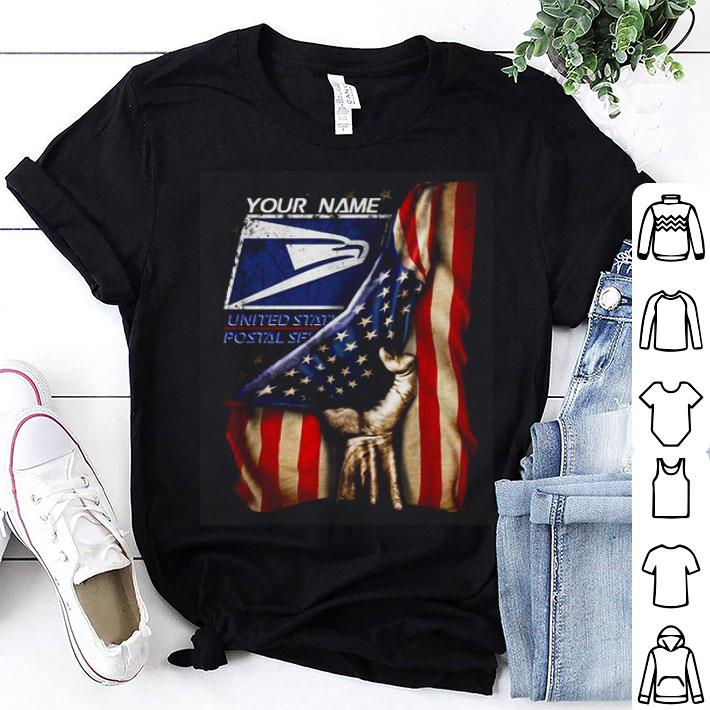 4th of July independence day your name US Postal Service shirt