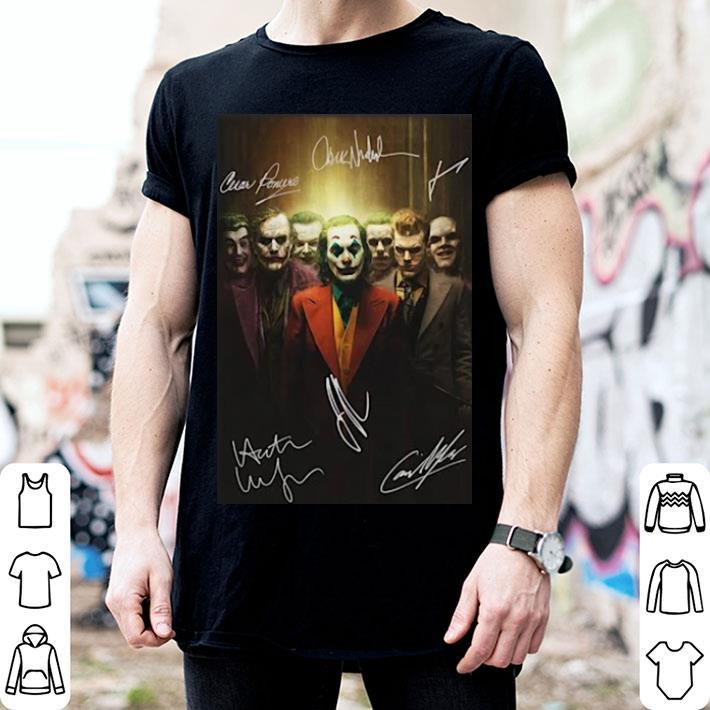 All Joker Characters season signatures poster shirt