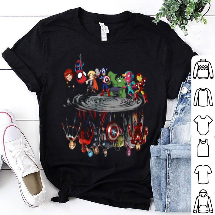 Avengers chibi water mirror reflection Marvel Avengers Endgame shirt