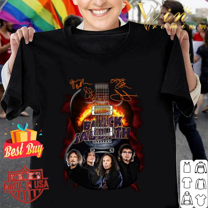 Black Sabbath guitarist signatures shirt