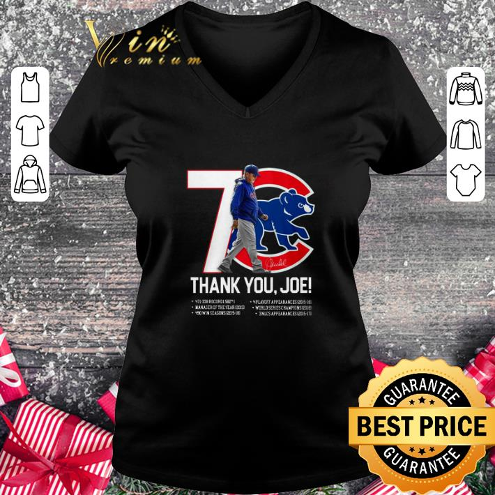 Cheap 7 Chicago Cubs thank you Joe Maddon Rumors shirt
