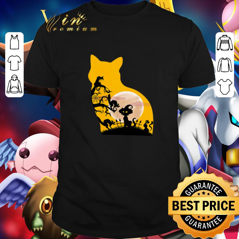 Cheap Awesome Halloween Cat With Costume shirt
