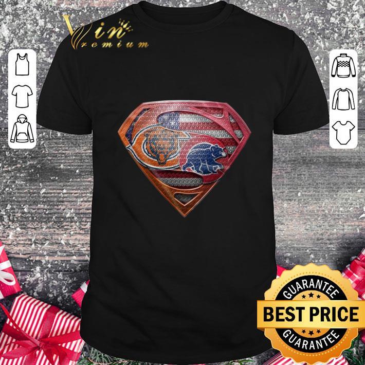 Cheap Chicago Bears Superman Logo Chicago Cubs shirt