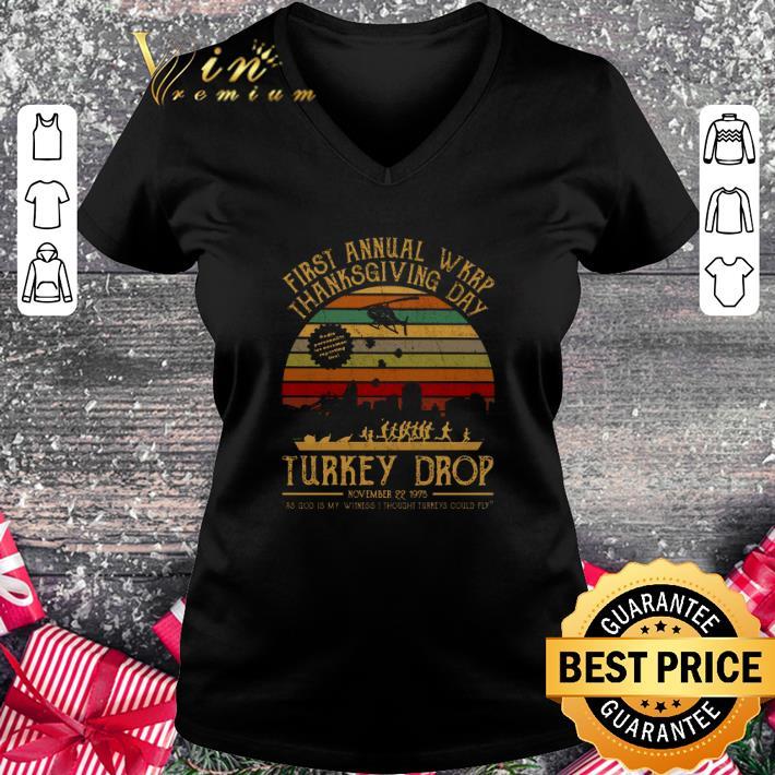 Cheap First annual wkrp thanksgiving day Turkey drop vintage shirt 2