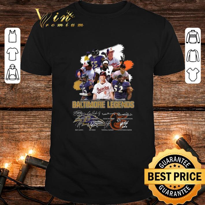 Cool Baltimore Legends signatures shirt