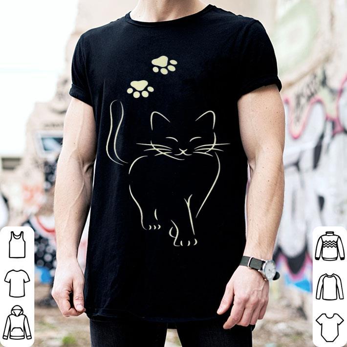 Cute black cat paw shirt
