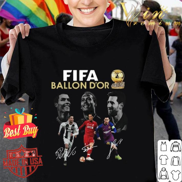 Fifa Ballon D'or 2019 Cristiano Ronaldo Messi Van Dijk Signature shirt