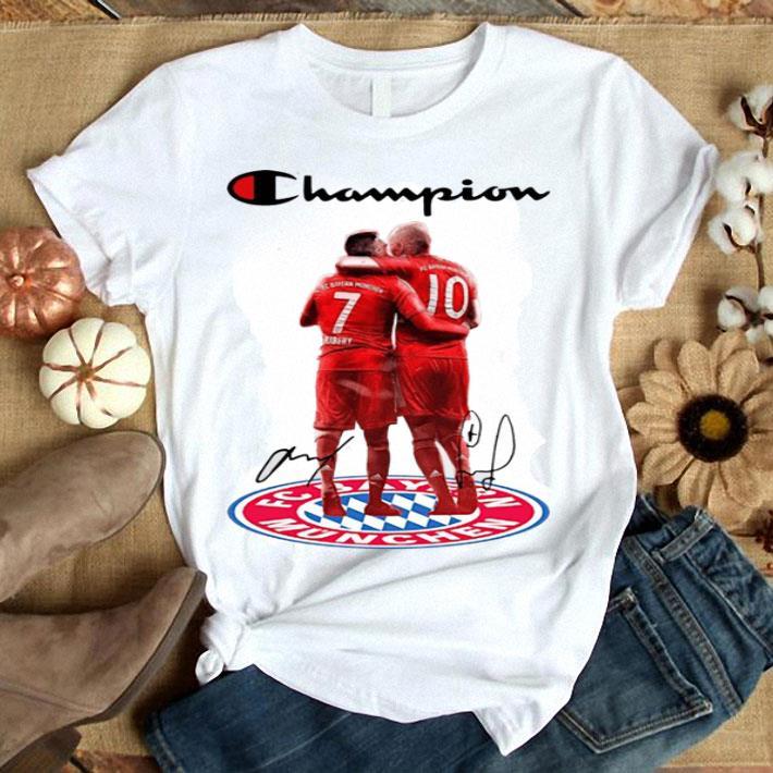 Franck Ribery Champion Arjen Robben Bayern Munich Signatures shirt